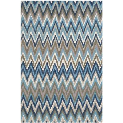 Sonny Teal & Blue Area Rug Rug Size: 4' x 6'