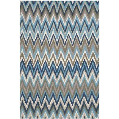 Sonny Hand-Woven Cotton Brwon/Blue Area Rug Rug Size: Rectangle 6 x 9