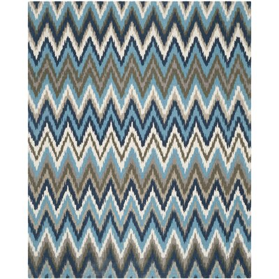 Sonny Hand-Woven Cotton Brwon/Blue Area Rug Rug Size: Rectangle 73 x 93