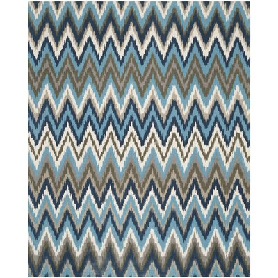 Sonny Hand-Woven Cotton Brwon/Blue Area Rug Rug Size: Rectangle 9 x 12
