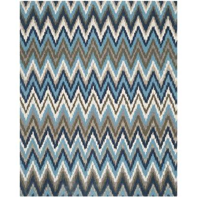 Sonny Teal & Blue Area Rug Rug Size: 9 x 12
