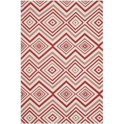 Sonny Ivory / Coral Rug Rug Size: Rectangle 5 x 8
