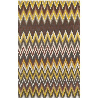 Sonny Brown / Citron Rug Rug Size: 2'3