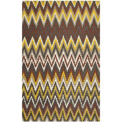 Sonny Brown / Citron Rug Rug Size: 5 x 8