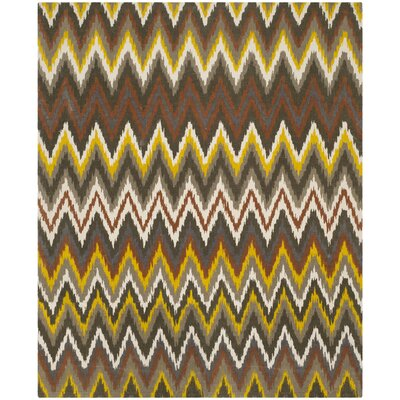 Sonny Brown / Citron Rug Rug Size: 73 x 93