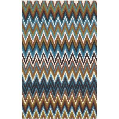 Sonny Green & Blue Area Rug Rug Size: 2'3