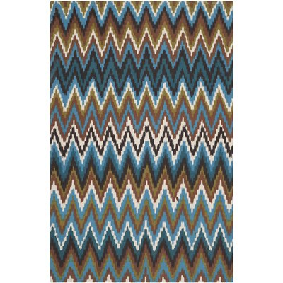 Sonny Green & Blue Area Rug Rug Size: 5 x 8