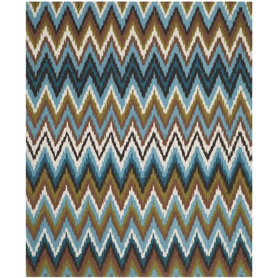 Sonny Green & Blue Area Rug Rug Size: Rectangle 73 x 93
