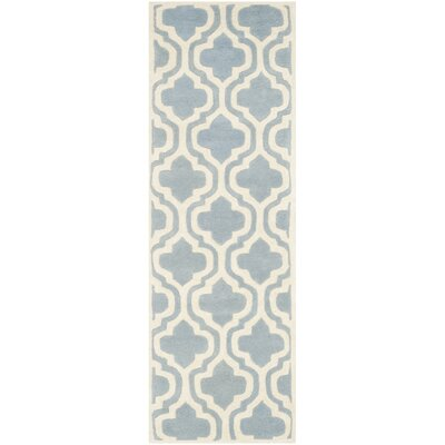 Wilkin Blue / Ivory Moroccan Rug Rug Size: Runner 23 x 7