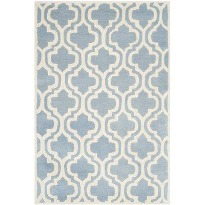 Wilkin Blue / Ivory Moroccan Rug Rug Size: 4 x 6