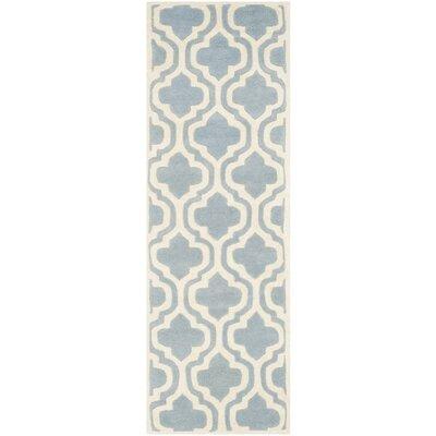 Wilkin Blue / Ivory Moroccan Rug Rug Size: Runner 23 x 9