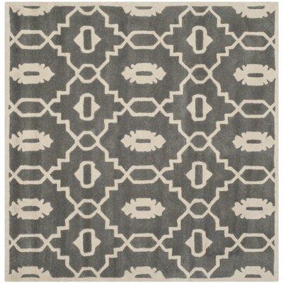 Wilkin Dark Grey / Ivory Moroccan Rug Rug Size: Square 7