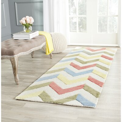 Martins Chevron Indoor / Outdoor Area Rug Rug Size: Runner 26 x 8