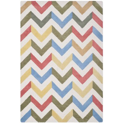 Martins Chevron Indoor / Outdoor Area Rug Rug Size: 4 x 6