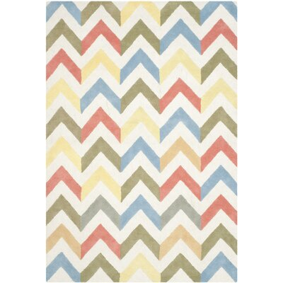 Martins Chevron Indoor / Outdoor Area Rug Rug Size: 6 x 9
