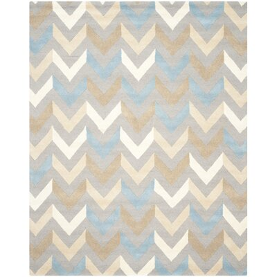 Martins Grey / Ivory Chevron Indoor / Outdoor Area Rug Rug Size: Rectangle 6 x 9