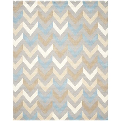 Martins Grey / Ivory Chevron Indoor / Outdoor Area Rug Rug Size: 5 x 8