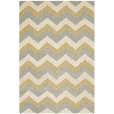 Wilkin Chevron Contemporary Area Rug Rug Size: Rectangle 3 x 5