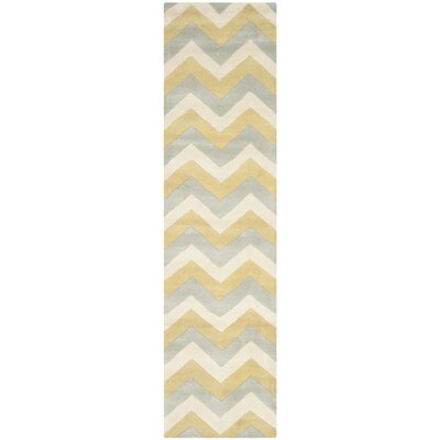 Wilkin Chevron Contemporary Area Rug Rug Size: Runner 23 x 9