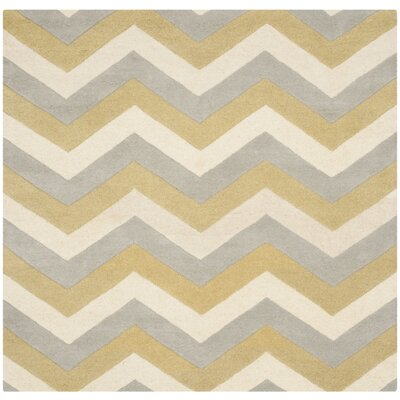 Wilkin Chevron Contemporary Area Rug Rug Size: Square 5