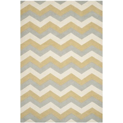 Wilkin Chevron Contemporary Area Rug Rug Size: 6 x 9