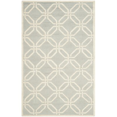 Martins Light Grey / Ivory Area Rug Rug Size: 4 x 6