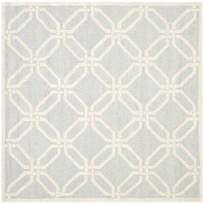 Martins Light Grey / Ivory Area Rug Rug Size: Square 6