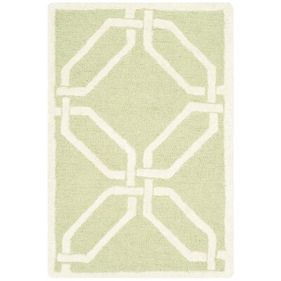 Martins Lime / Ivory Area Rug Rug Size: 2 x 3