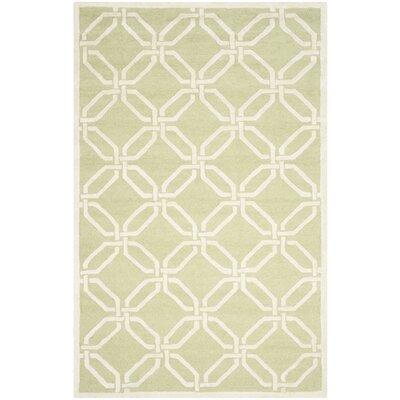 Martins Lime / Ivory Area Rug Rug Size: 5 x 8