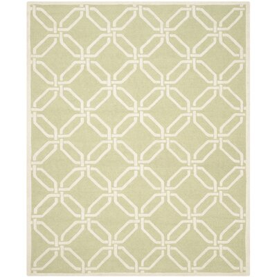 Martins Lime / Ivory Area Rug Rug Size: 8 x 10