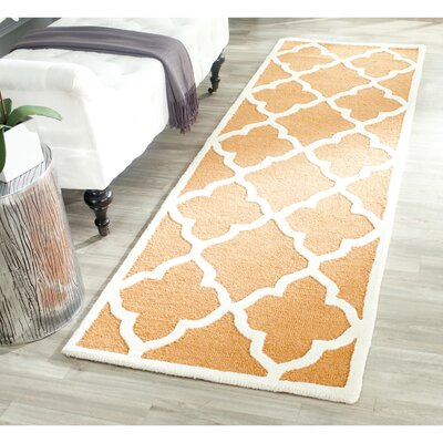 Martins Coral/Ivory Area Rug Rug Size: Runner 26 x 8