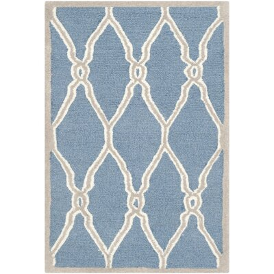 Martins Hand-Tufted Navy/Ivory Area Rug Rug Size: Rectangle 9 x 12