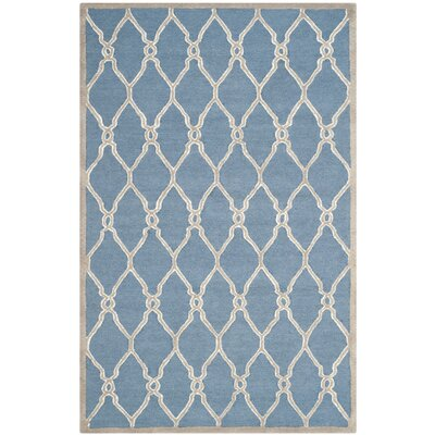 Martins Navy / Ivory Area Rug Rug Size: 3 x 5