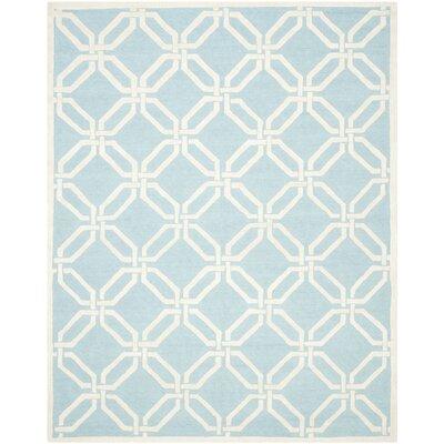 Martins Light Blue / Ivory Area Rug Rug Size: 2 x 3