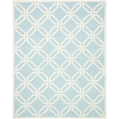 Martins Light Blue / Ivory Area Rug Rug Size: 4 x 6