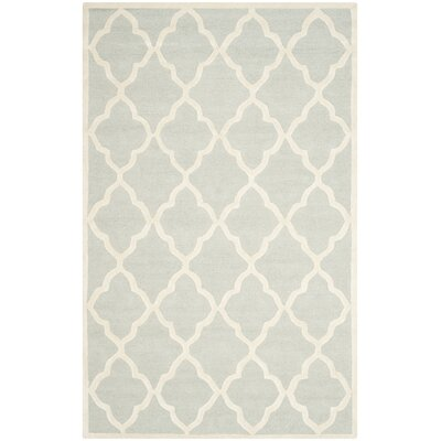 Charlenne Hand-Tufted Light Gray/Ivory Area Rug Rug Size: Rectangle 4 x 6
