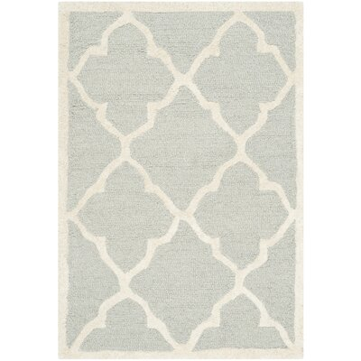 Charlenne Hand-Tufted Light Gray/Ivory Area Rug Rug Size: Rectangle 2 x 3