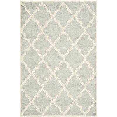Charlenne Light Grey / Ivory Area Rug Rug Size: 3 x 5