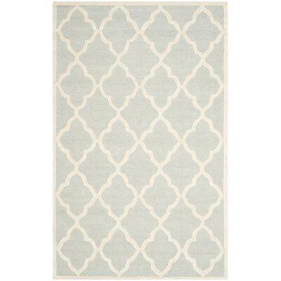 Charlenne Light Grey / Ivory Area Rug Rug Size: 4 x 6
