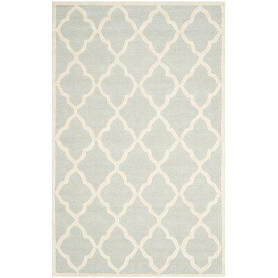 Charlenne Light Grey / Ivory Area Rug Rug Size: 9 x 12