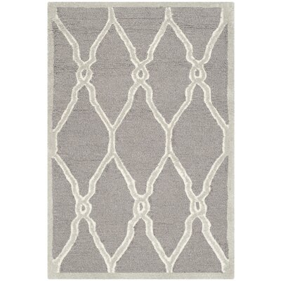 Martins Dark Grey / Ivory Area Rug Rug Size: 2 x 3