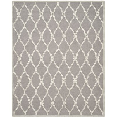 Martins Dark Grey / Ivory Area Rug Rug Size: 8 x 10
