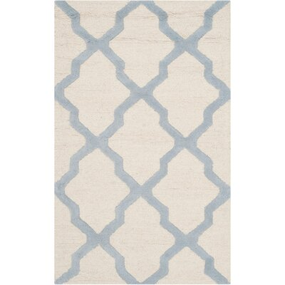 Martins Ivory / Light Blue Area Rug Rug Size: 3 x 5