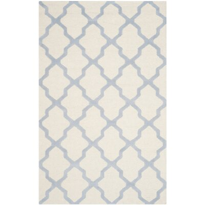 Martins Ivory / Light Blue Area Rug Rug Size: 6 x 9