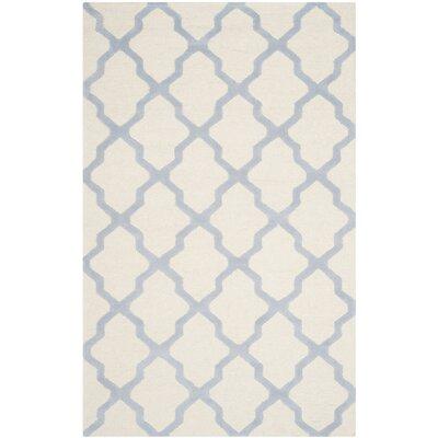 Charlenne Ivory / Light Blue Area Rug Rug Size: 4 x 6