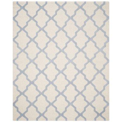 Charlenne Ivory / Light Blue Area Rug Rug Size: 8 x 10