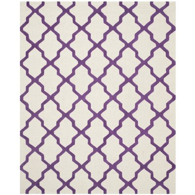 Martins Ivory / Purple Area Rug Rug Size: 8 x 10