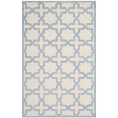Martins Ivory / Light Blue Area Rug Rug Size: 8 x 10