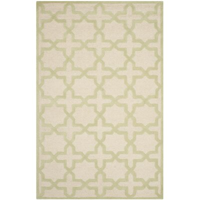 Martins Ivory / Light Green Area Rug Rug Size: 5 x 8