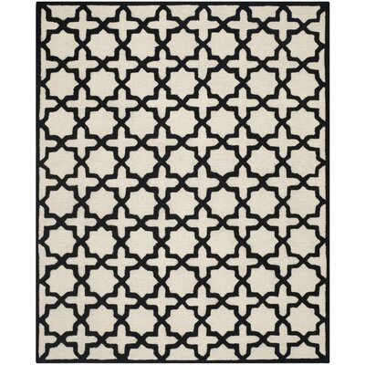 Martins Ivory / Black Area Rug Rug Size: Rectangle 5 x 8